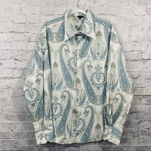 Toku Vintage Inspired Paisley Button Up Shirt